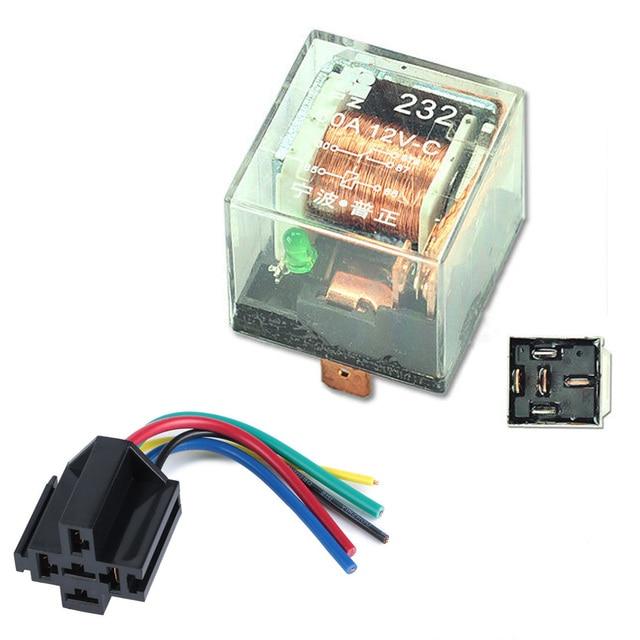 Aliexpress Com   Buy 5 Pcs Car Relay 12v 80a 5pin Spdt 80 Amp 5 Pin Transparent Shell Auto