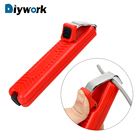 DIYWORK Wire Stripper Knife Mini Electrician Knife Cable Stripping Knife PVC Cable Plastic Handle 8-28mm Adjustable