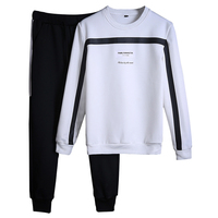 2018 Men Sportswear Sets O Neck Tracksuit Sweatshirt With Joggers Pants Letter Casual 2 Pieces Sets