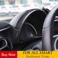 Автомобильная приборная панель из углеродного волокна декоративный комбинированный счетчик аксессуары для нового smart 453 fortwo forfour модификац