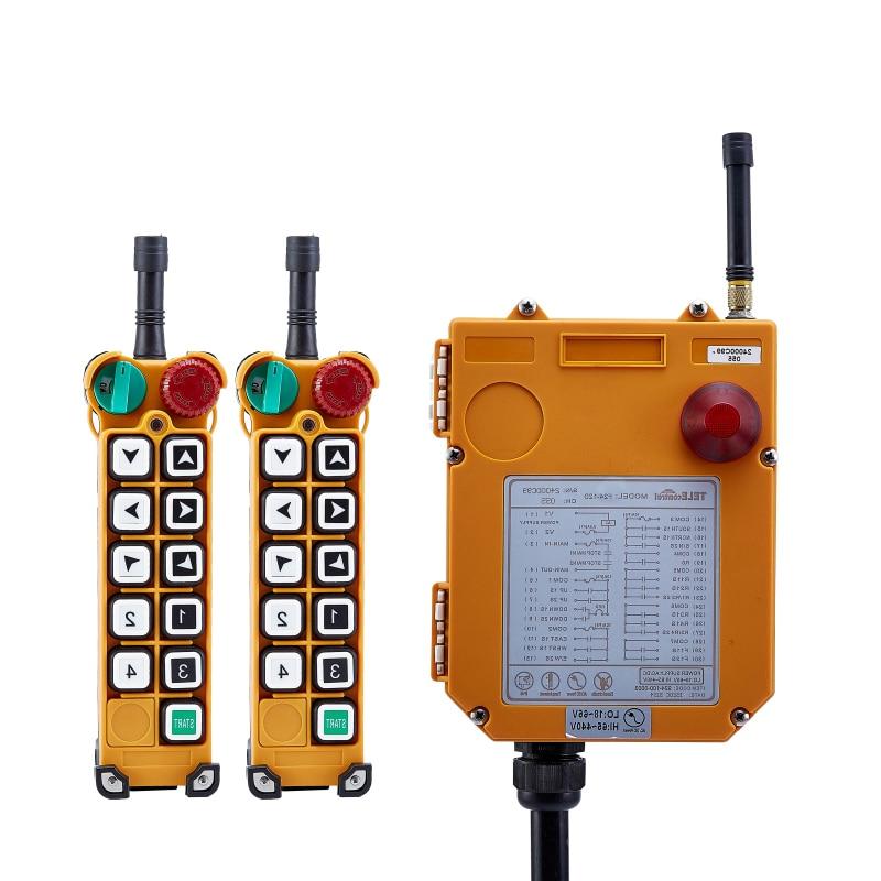 F24 10S переключателя для подъемного крана 2 передатчика и 1 приемника Промышленные беспроводные переключатели дистанционного управления redio