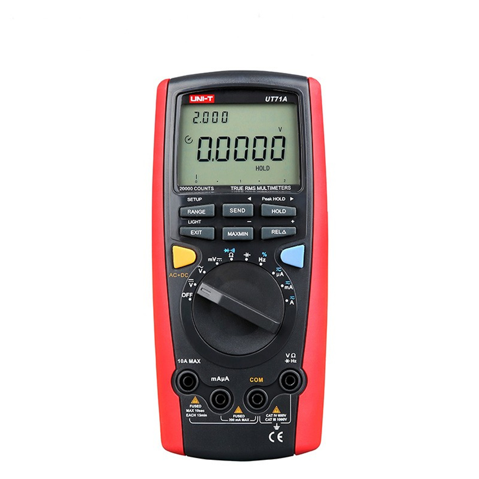 UNI-T UT71A UT71B UT71C UT71D UT71E Digital Multimeter With USB Interface Frequency Tester Meter power 2500W USB true RMS цена
