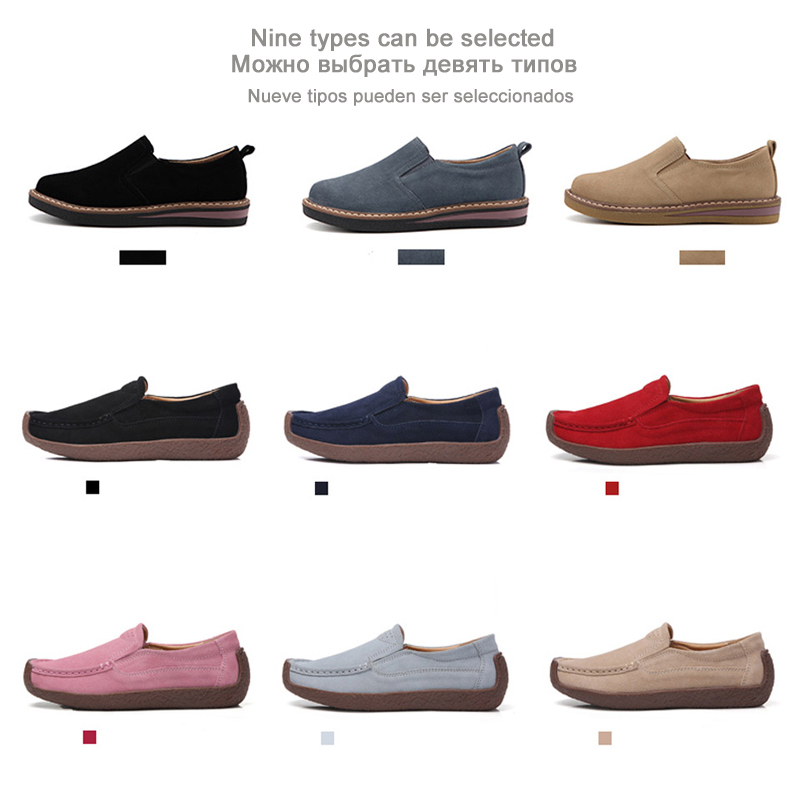 Women Moccasins Women's Flats Genuine leather Shoes 1