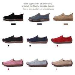 EOFK Spring Autumn Women Moccasins Women's Flats Genuine leather Shoes Woman Lady Loafers Slip On Suede Shoes mocasines mujer 2