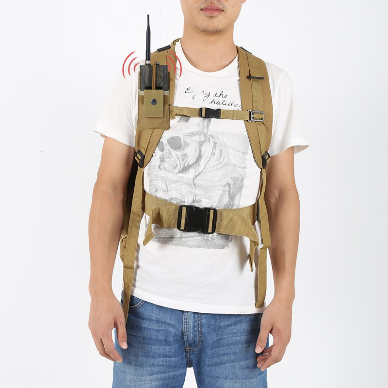 Tactical Radio Case Holder Walkie Talkie Holster Holster Adjustable Molle Pouch Open Top Magazine Nylon Pouch