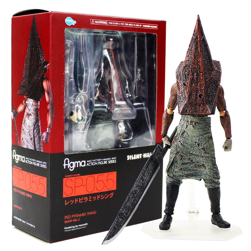 18cm Figma Action Figure Series Silent Hill 2 Red Pyramid Thing SP 055 With Sword Weapon PVC Action Figure Collectible Model Toy