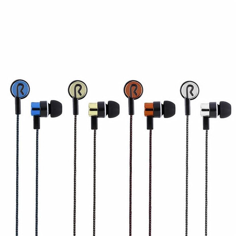 5 Colors Earphones Sports Running Noise Isolating Stereo 1.1M In-Ear 3.5mm Media Player Music Earphone Stereo Music Headphone