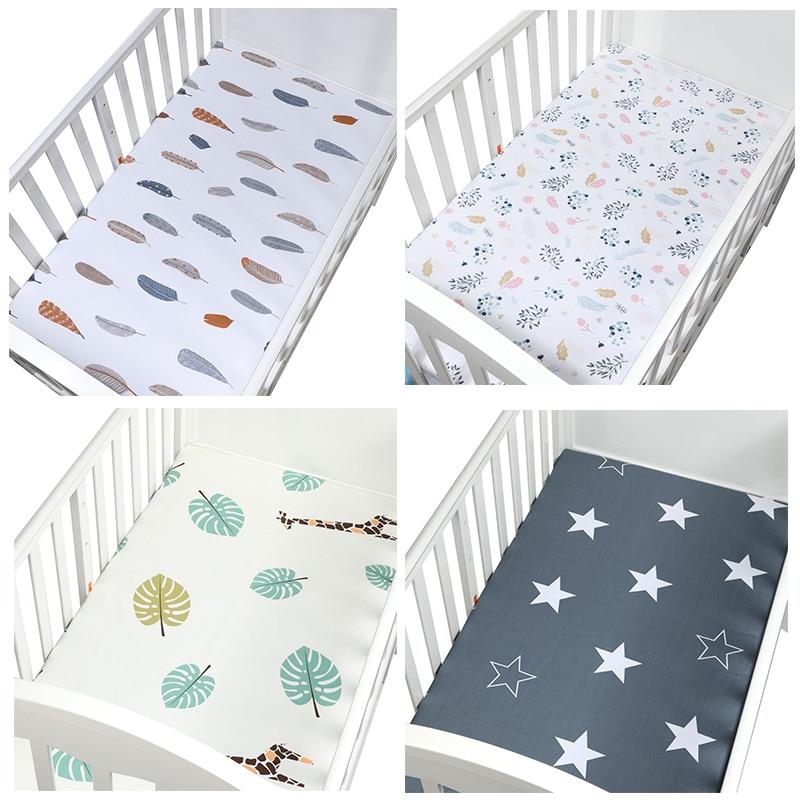 105*60 Cm De Beste Gift Pasgeboren Baby Wieg Hoeslaken Zacht Ademend Baby Bed Matras Cover Potector Cartoon Pasgeboren Bed