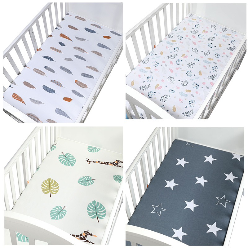 105*60cm The Best Gift Newborn Baby Crib Fitted Sheet Soft ...