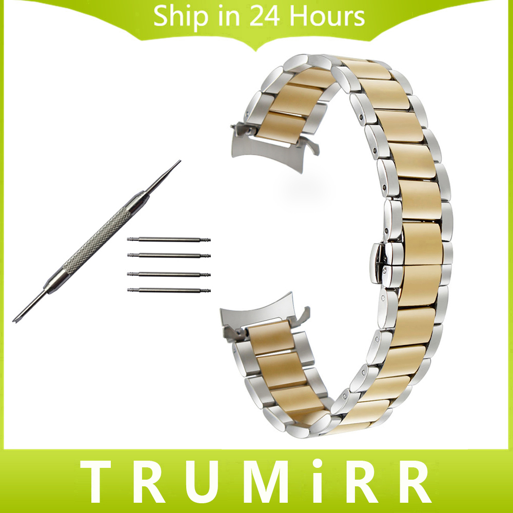 Curved Stainless Steel Watchband for Tissot Titoni Herbelin Watch Band Wrist Strap Bracelet Silver Gold 14mm 16mm 18mm 20mm 22mm neway stainless steel milanese watch band strap wrist watchband wristwatch buckle black rose gold silver 18mm 20mm 22mm 24mm
