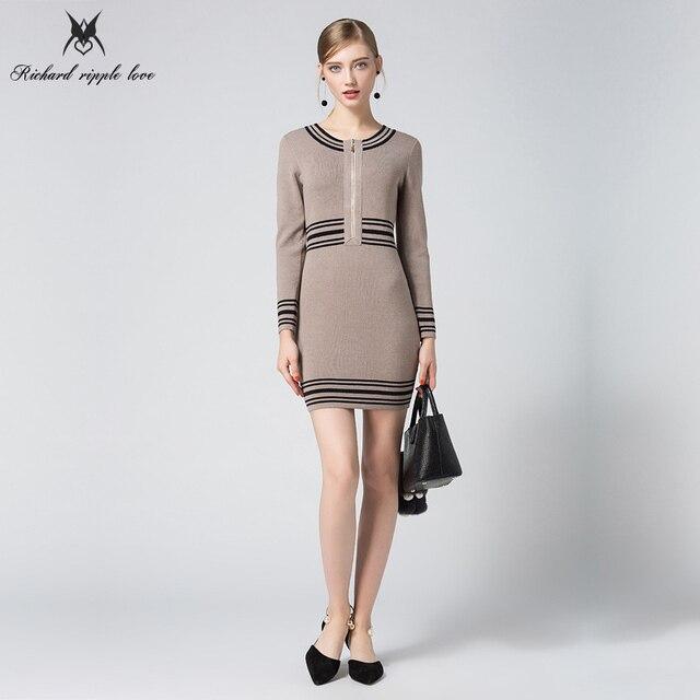 7abc1cc60d6 1 d une seule pièce tricoté robe Pull robes de Chambre Pour Les Femmes  Printemps