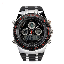 Luxury Brand Men's Stryve Military Watch 3ATM Wateprroof High Quality Night Light Reloj Watches Men Alarm Function Army Watches