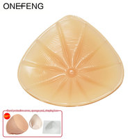 ONEFENG SB Mastectomy Breast Form Lightweight for Swimming Silicone Breast Prosthesis match Post Surgery Bra with Pockets