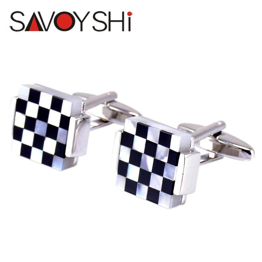 """""""SAVOYSHI"""" prabangūs kvadratiniai rankogalių segtukai vyrams - Mados papuošalai - Nuotrauka 2"""