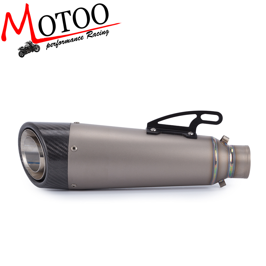 Motoo - FREE SHIPPING Titanium Alloy Motorcycle Exhaust Motorbike carbon fiber Muffler Exhaust Escape for KAWASAKI