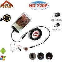 Stardpt Mini Endoscope Camera 7mm USB Endoscope Android 10M OTG PC USB Endoscopio Inspection IP67 Waterproof