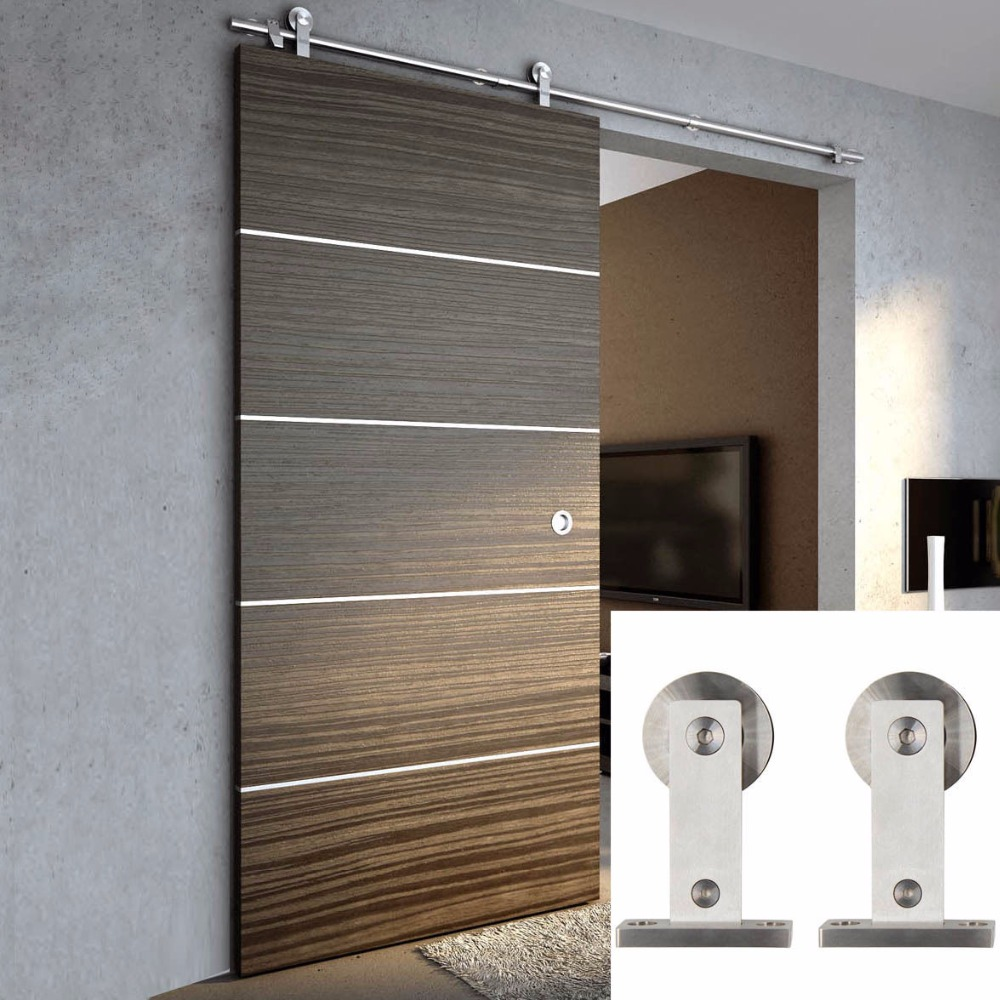 Online get cheap stainless steel barn door hardware for Metal barn doors