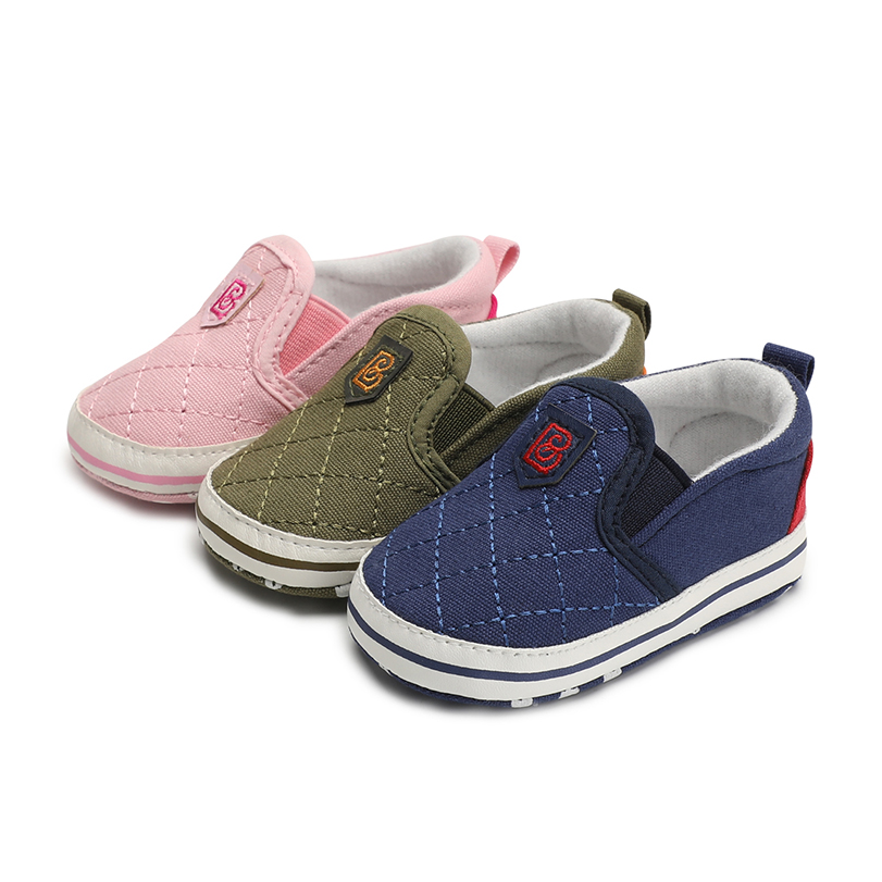 Baby boy girls shoes newborn infant canvas anti-slip moccasins Slip-On for bebe soft sole brand babies sneaker Booties spring