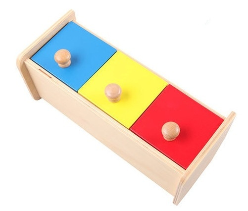 New Wooden Baby Toys Montessori Colorful drawer box Learning Educational Preschool Training Baby Gifts