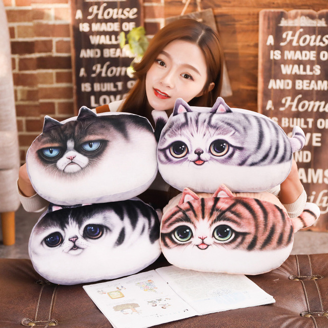 40 Cm Kartun Mewah Kucing Bantal Boneka Kucing Tangan Warmer Bantal Mainan  Bayi Musim Dingin Anak-anak Mainan Hadiah Ulang Tahun untuk Anak-anak anak  ... 32f85cee1e