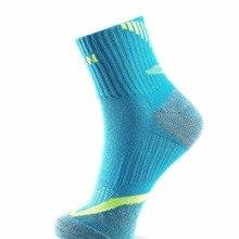 3 пары,, мужские спортивные носки TAAN, толстые хлопковые носки для бадминтона, тенниса, нескользящие носки до колена, T-345
