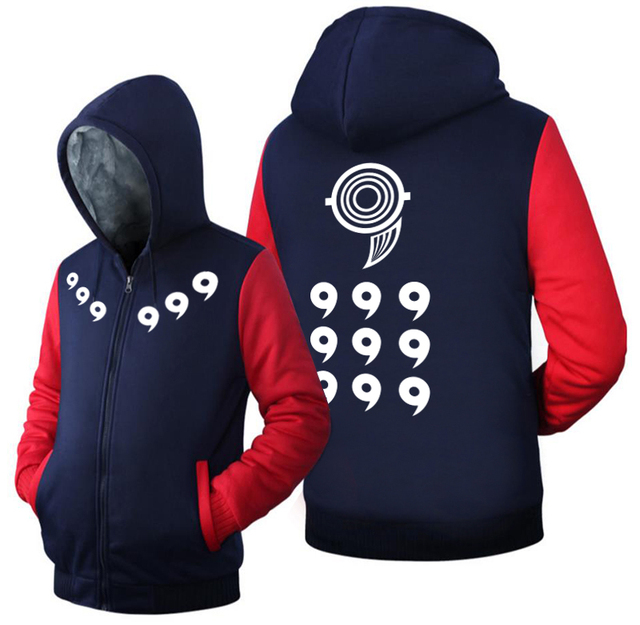 Naruto Men Women Zipper Hoodie Winter Fleece Sweatshirts
