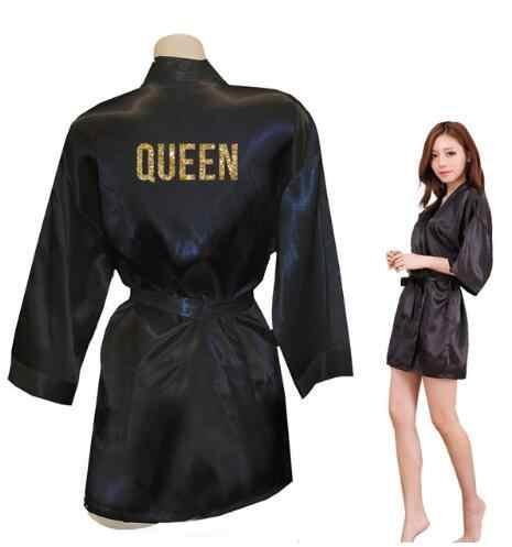 Королевские золотые блестящие кимоно с принтом халаты из искусственного шелка женские девичьи халаты мужские подарки для нее Бесплатная доставка