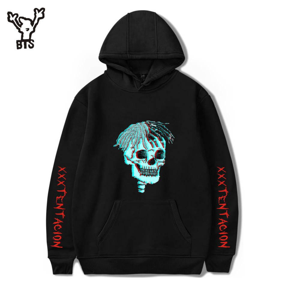 2018 Hot Sale Hip Hop Hoodies Sweatshirts Raper XXXTentacion Harajuku Casual Cool Men Print Autumn Plus Size 4XL A8322-A8324