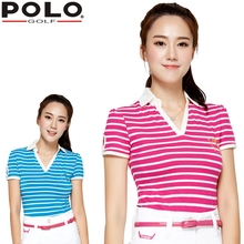brand POLO. women's golf clothes golf T shirt short-sleeve polo sexy shirt for Spring and Aut, Women Workout Polo Shirt, Fitness