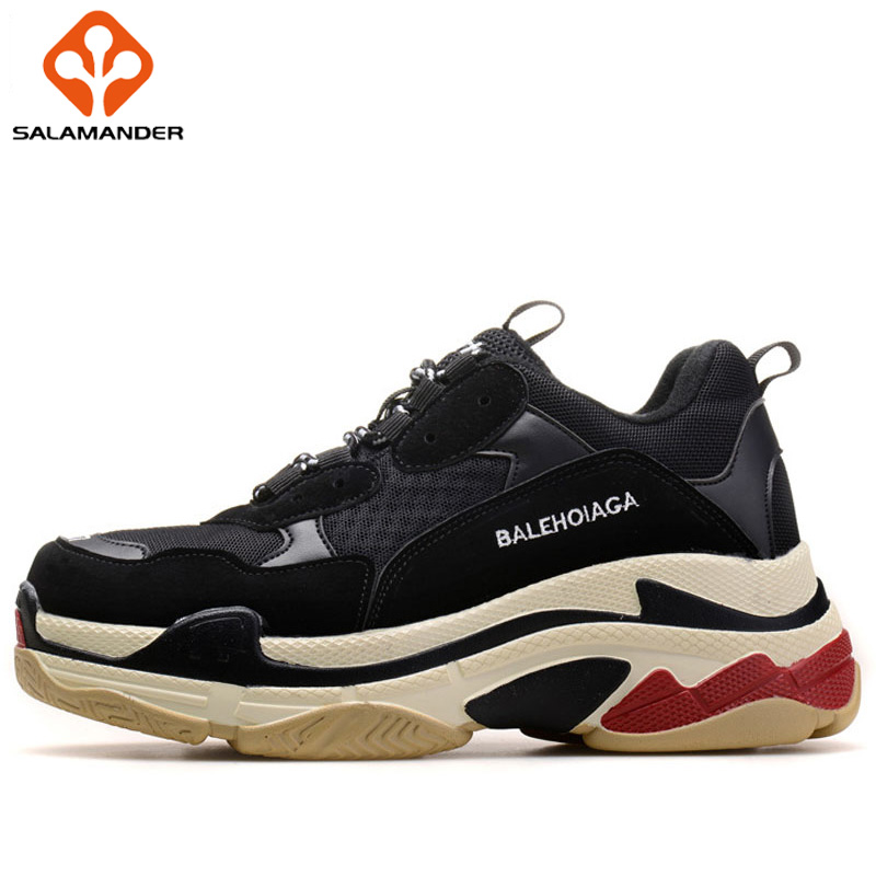 SALAMANDER Spring 2018 Lovers Running Shoes Woman Brand Breathable Mesh Sport Shoes For Men Walking Shoes Run Women's Sneakers