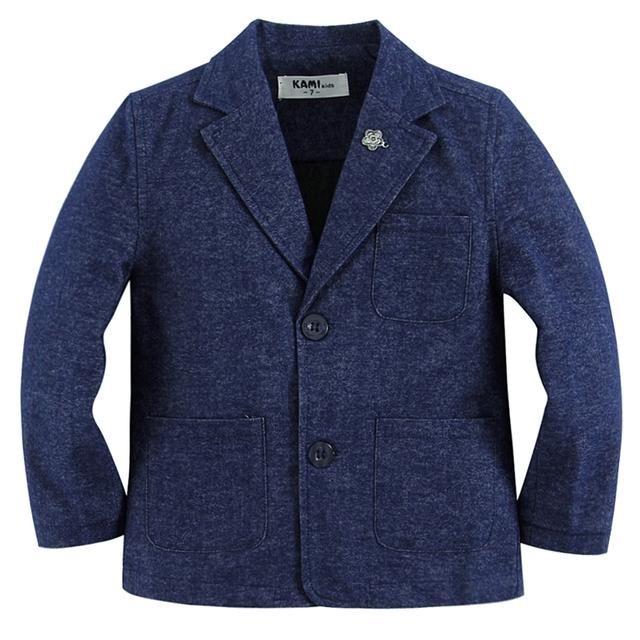 Nova chegada tecido de algodão macio 100% menino blazer BB201602 Um Azul