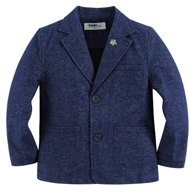 new arrival soft woven cotton 100% boy blazer BB201602 A Blue