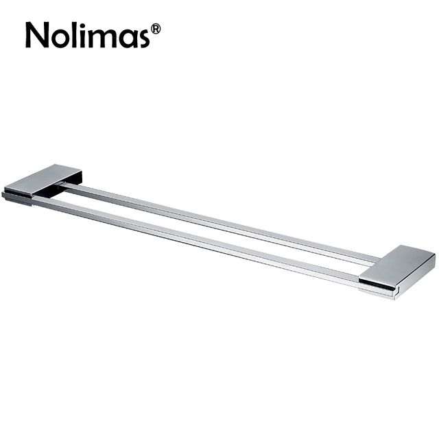 mirror polished sus 304 stainless steel double towel bar square towel rack wall mounted towel holder - Double Towel Bar