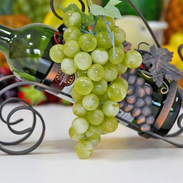 New Fashion 22-85pcs Grain Lifelike Artificial Grapes Plastic Fake Fruit Food Home Decor Decoration Vivid Fake Grapes Green