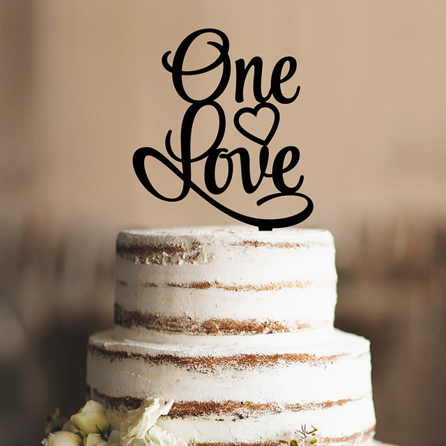 One love unique wedding cake topper romantic wedding cake one love unique wedding cake topper romantic wedding cake decorations acrylic silhouette modern and elegant wedding junglespirit Choice Image