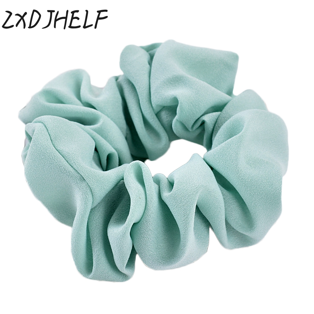 ZXDJHELF Classical Design Women Hair Accesorios Pelo Female Hair Tie Scrunchie Ponytail Hair Holder Rope Chiffon   Headwear   F020