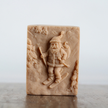 Nicole Silicone Soap Bar Mold Square with Santa Claus Pattern for Natural Handmade Chocolate Candy Mould