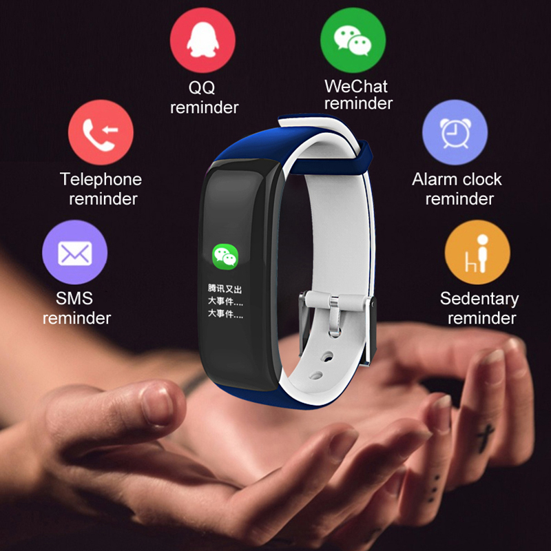 SCOMAS P1 PLUS Color Display Blood Pressure Heart Rate Monitor Smart Watches Fitness Bracelet Activity Tracker Smart Wristband