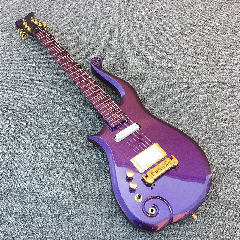2018 New,Prince Cloud Left hand electric guitar,Maple fingerboard with Purple body!1*humbucker 2*single coils,free shipping! free shipping new arrival on sale f stratocaster sky blue custom body maple fingerboard electric guitar in stock 16