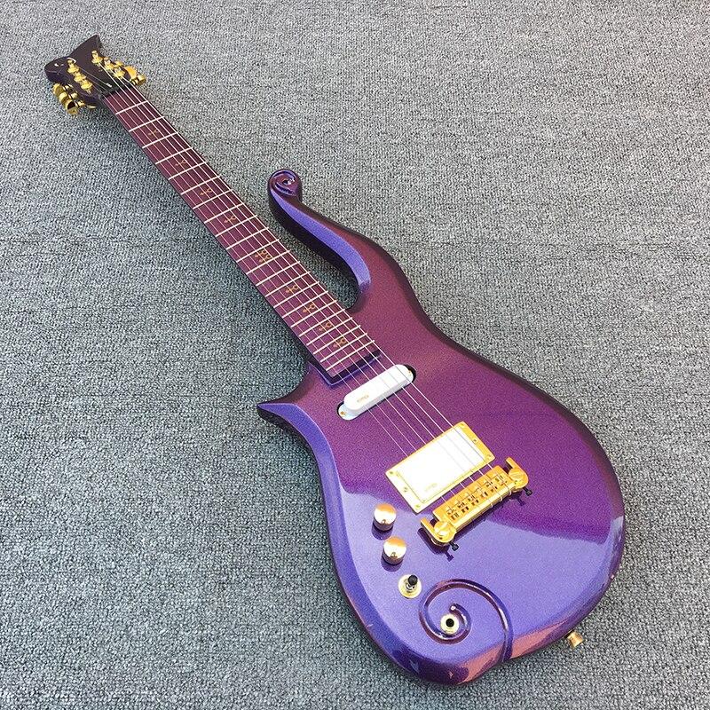 2018 Nouveau, Prince Nuage Gauche main guitare électrique, érable touche avec Violet corps! 1 * humbucker 2 * unique bobines, livraison gratuite!