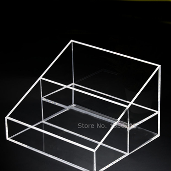 Desk Acrylic Organizer Rack 2 Tiered Storage For Kitchen, Pantry or Bathroom Countertops Holder