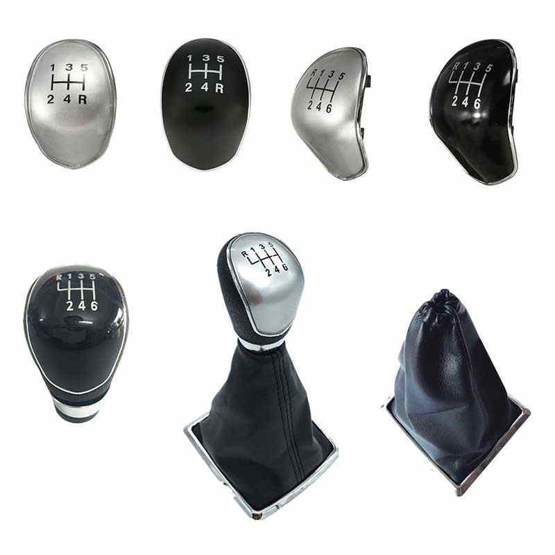 5/6 velocidade do carro botão de mudança de engrenagem gaiter boot capa lidar com tampa de cabeça para ford focus 2 fiesta mk7 foco mk2 trânsito/c-max 2007-2010