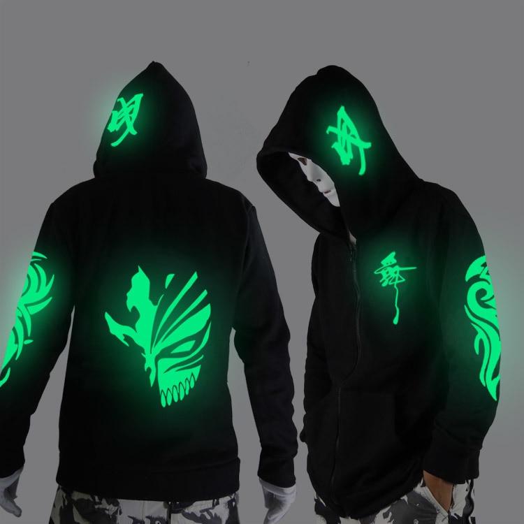 Noctilucent hosszú ujjú kabát ruha laza kabát és a diákok divat ruházat tánc éjszaka ragyogó ruhát szellem tánc