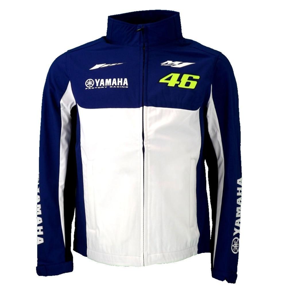 2016 Valentino Rossi VR46 M1 for Yamaha Racing Moto GP Softshell Jacke offizielle Blue White