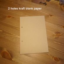 Hatimry brand A5 standerd size refiller 145*210mm 100 sheets for notebook refill 2 holes kraft line  inside page paper