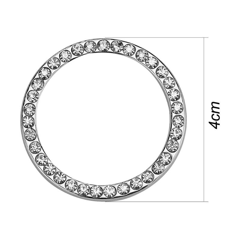 "HTB1lQgjzeuSBuNjSsziq6zq8pXav 40mm/1.57"" Auto Car Bling Decorative Accessories Automobiles Start Switch Button Decorative Diamond Rhinestone Ring Circle Trim"