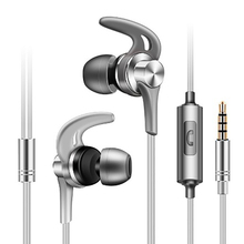 Hot sell intelligent line control OX horn style sport music earphone bass Stereophonic HD voice denoise metal material headset