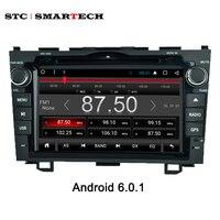SMARTECH 2 din 8 '' Dört çekirdekli Android 6.0 IŞLETIM SISTEMI Araç PC Tablet bluetooth wifi gps navi ile honda crv için direksiyon kontrolü