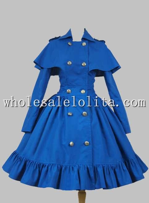 Gothique victorien Lolita Steampunk coton Cape manteau robe Lolita canal a-ligne 4XL à vendre robes de fête du thé