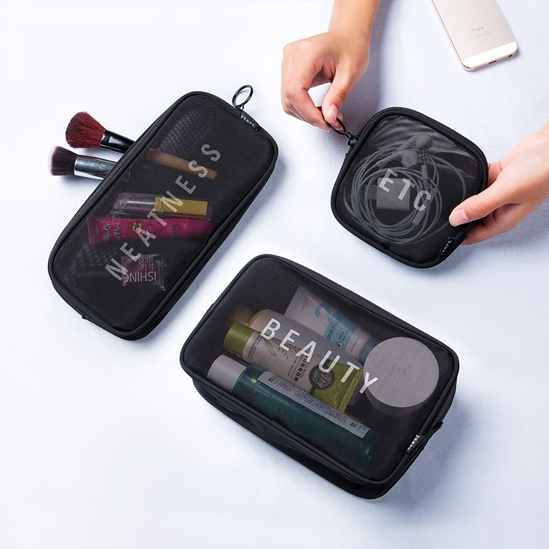3pcs/set Fashion Brand Cosmetic Bags Makeup Bag Neceser Portable Make Up Bag Women Pouch Travel Toiletry Bag Blosa